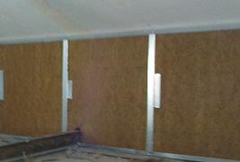 mur en fibre de bois